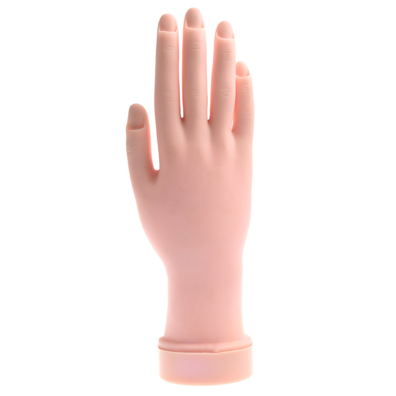 SODIAL(R) Soft Plastic Fake Practice Hand for Nail Art Training Tips