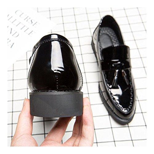 Hombres Diseño Zapatos Borla Mocasines Charol Conducción Para Nxy Negro Brillante En Ponerse De PEq0faw