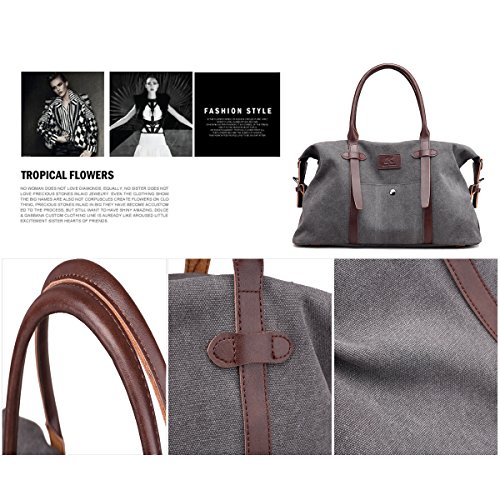 SDINAZ Strap Handbags Women's with Lightweight Large Boston Brown Bags Bag Shoulder Khaki Shoulder Casual 1r4p1nzwq