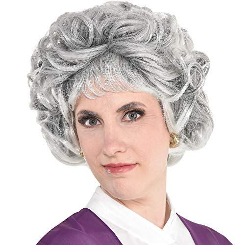 Party City Sarcastic Senior Wig Halloween Costume Accessory for Adults, One Size