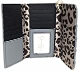 Jessica Simpson LISA Slate Gray Leather Trifold Wallet