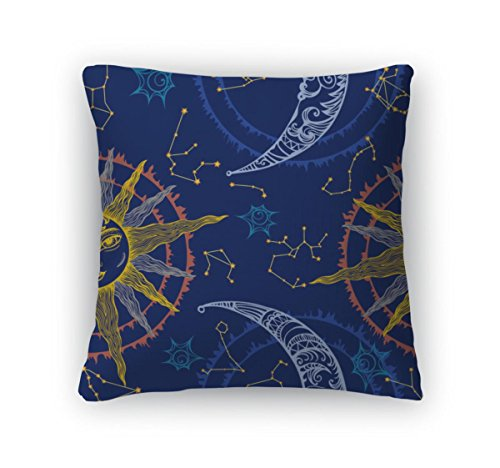 Libra Clipart - Gear New Throw Pillow Accent Decor, Sun And Moon, 20