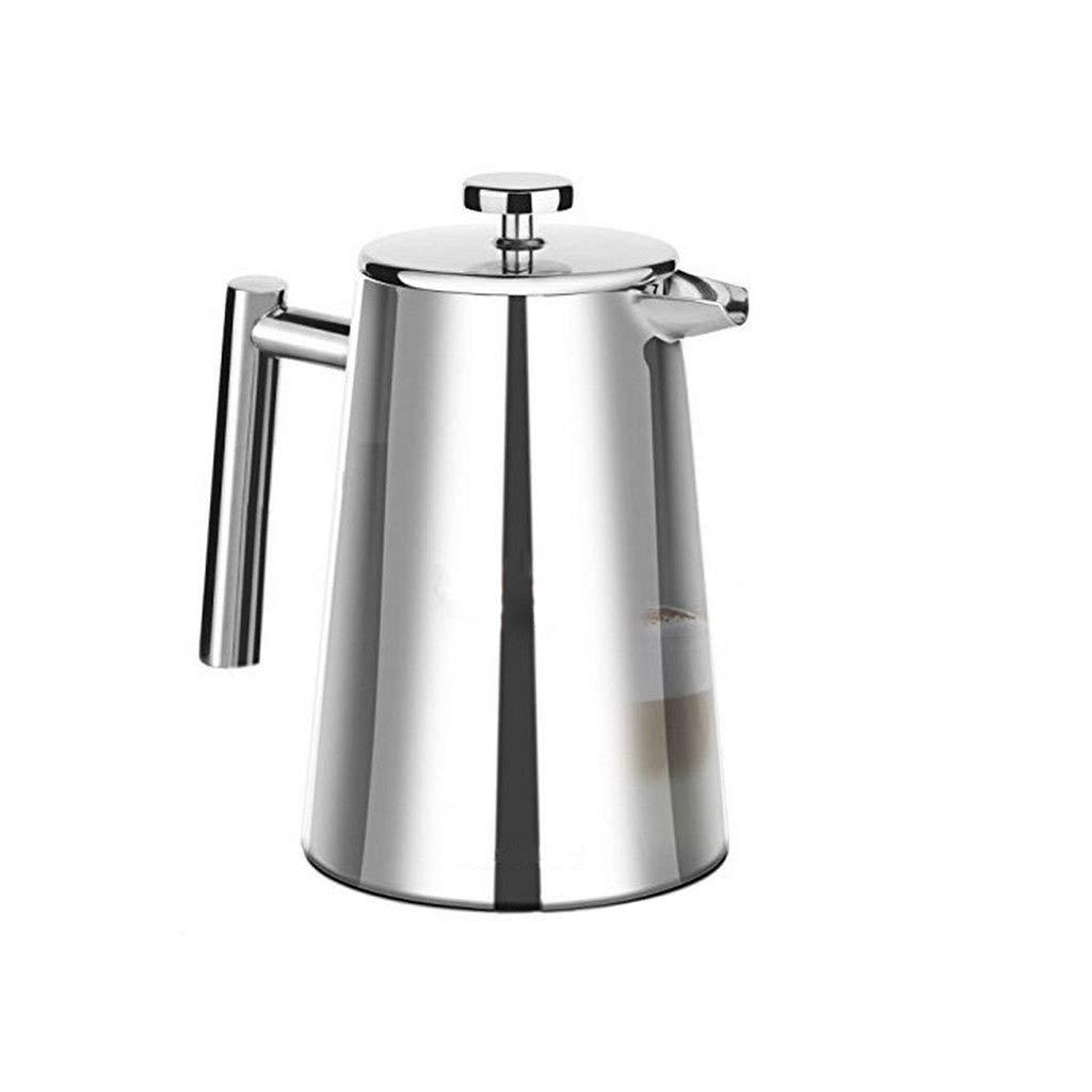 Acquisto FYHKF Caffettiere a pistone Caffettiera a Pressione Francese in Acciaio Inox 304 Doppio Isolamento caffettiera Teiera da 1000 ml Prezzi offerta
