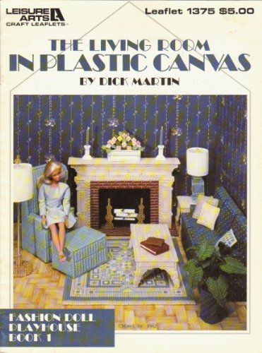 The living room in plastic canvas (Fashion doll playhouse) (Canvas Plastic Doll)