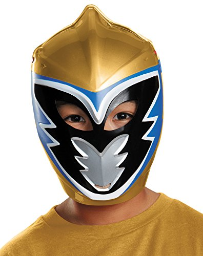 Gold Ranger Dino Charge Costume (UHC Boy's Gold Ranger Dino Charge Mask Child Halloween Costume Accessory)