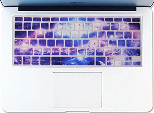 Dogxiong Galaxy Pattern Texture Silicone Keyboard Cover Ultra Thin Keyboard Skin for MacBook Air 13 MacBook Pro with Retina Display 13 15 17