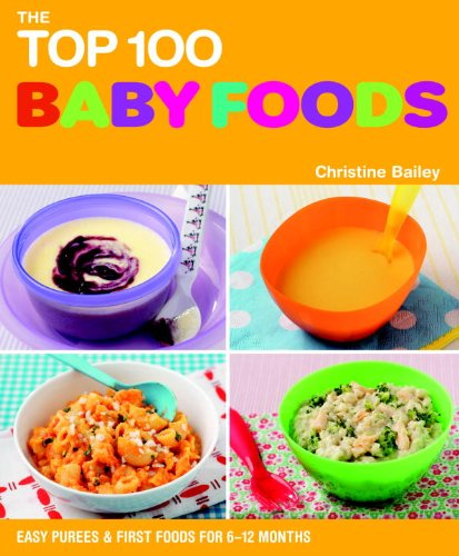 The Top 100 Baby Food Recipes: Easy Purees & First Foods for 6-12 Months (The Top 100 Recipes Series)                         (Paperback)