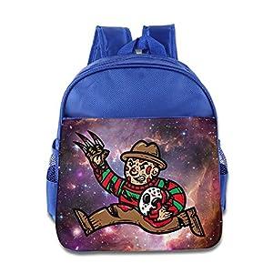 Freddy Stole Jasons Mask Kids Backpack School Bag For Boys/girls RoyalBlue