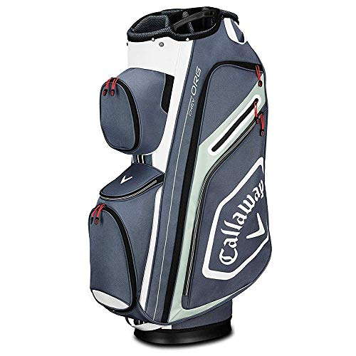 Callaway Golf 2019 Chev Org Cart Bag, Titanium/White/Silver