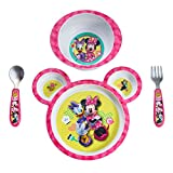 The First Years Disney Baby Minnie Mouse 4-Piece Feeding Set