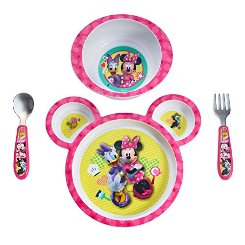 ey Baby Minnie Mouse 4-Piece Feeding Set ()