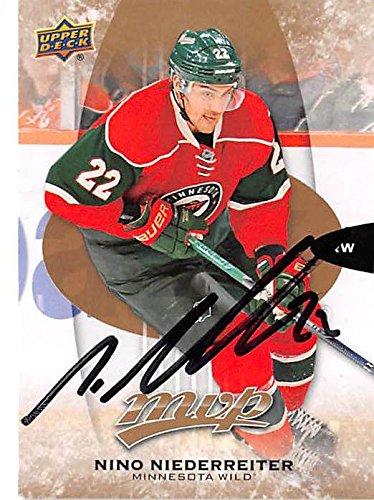 (Nino Niederreiter autographed hockey card (Minnesota Wild) 2016 Upper Deck MVP #118)