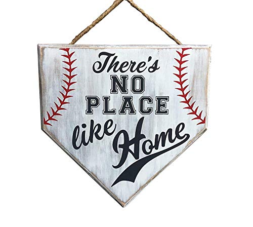 No Place Like Home Baseball Wood Sign Home Plate Coach Gift Rustic Baseball Mom Softball Mom Gifts