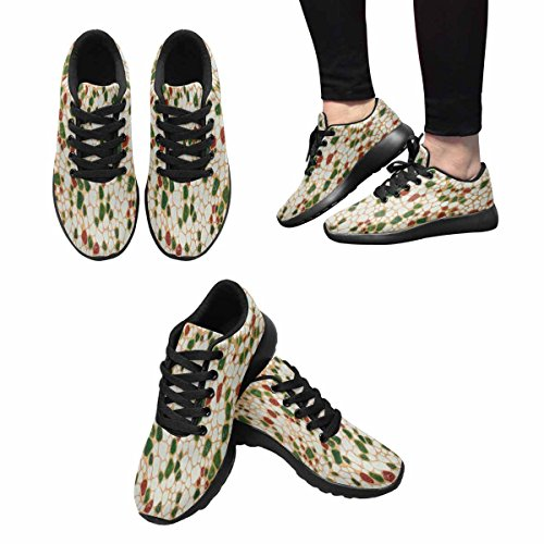 InterestPrint Womens Trail Running Shoes Jogging Lightweight Sports Walking Athletic Sneakers Wall Pebble Stone Marble Multi 1 NvkCfSvGM