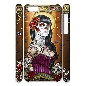 GGMMXO Sugar Skull Shell Phone Case For Iphone 5C [Pattern-1]