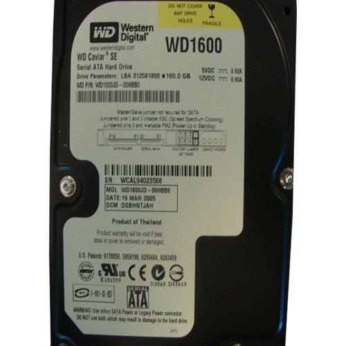 (WD1600JD-00HBB0 Western Digital 160GB 7200RPM SATA 1.5 Gbps 3.5 inch Caviar Hard Drive)