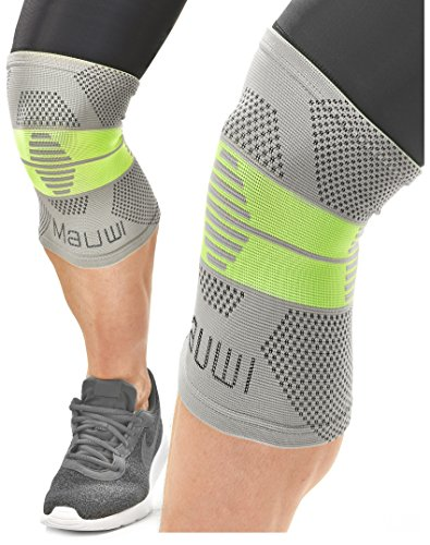 Elastic Knee Stabilizer (Knee Brace Support Compression Sleeve for Running - Sports - Crossfit - Volleyball - Arthritis - Meniscus Tear - Joint Pain Relief for Men - Women - Boys - Girls - Patella Stabilizer)