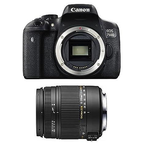 CANON EOS 750D + SIGMA 18-250 F3,5-6,3 DC MACRO OS: Amazon.es ...