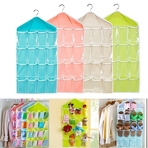 Sendke Closet Storage Door Hanging Bag Organization, Wall Windows Door Closet Door Hanging Organizer Mesh Pockets and Dual Sided Wall Shelf Wardrobe Storage Bags for Room Bathroom