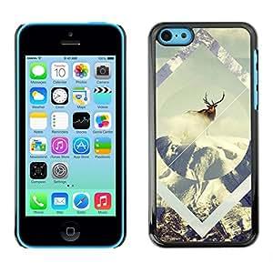 Stuss Case / Funda Carcasa protectora - Geometría de la nieve de los ciervos - iPhone 5C