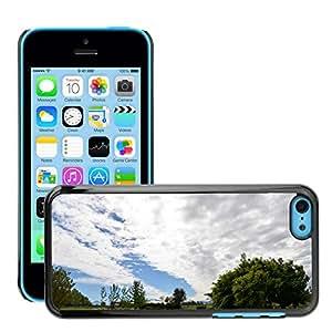 Print Motif Coque de protection Case Cover // M00295176 El cielo se nubla paisaje del campo de // Apple iPhone 5C