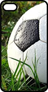 Soccer Ball on Grass Black Plastic Case for Apple iPhone 5 or iPhone 5s