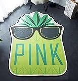 Slow Rebound Pineapple Mat Rug Room Decor Summer for Kids - Viscose 63x80 inch by HugeHug