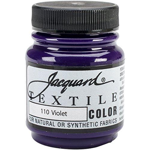 Violet Jacquard Fabric (Jacquard Products Jacquard Textile Color Fabric Paint, 2.25-Ounce, Violet)