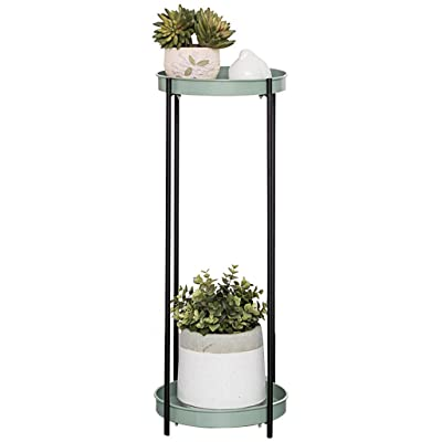 LRW Simple Peppermint Green Color Wrought Iron Flower Stand Multi-Layer Flower Stand Balcony Flower Stand Floor Living Room Indoor Floor Flower Shelf: Garden & Outdoor