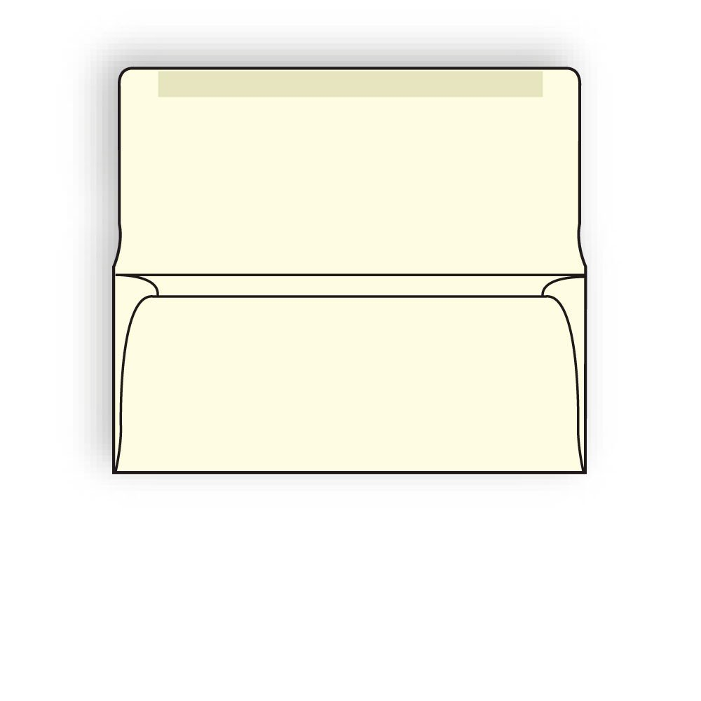 #9 Collection/Remittance Envelopes, 3-7/8'' x 8-7/8'' 24# Recycled Creme Pastel, Open Side, Flaps Extended (Box of 500)