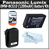 Battery Kit For Panasonic Lumix DMC-ZS7 DMC-ZS10, DMC-ZS8, DMC-ZS9, DMC-3D1, DMC-ZS20, DMC-ZS15 Digital Camera Includes Extended Replacement Panasonic DMW-BCG10 (1200 mAH) Lithium-Ion Battery + Deluxe Hard Case + LCD Screen Protectors + MicroFiber Cloth