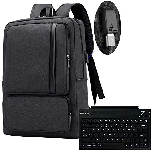 15.6 Inch USB Charging Port Laptop Backpack and Wireless Keyboard for Lenovo (Lenovo Thinkpad Yoga 11e G3 11-6 Touch Ultrabook)