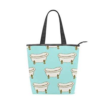 Amazon.com: Bolso de hombro de tela de porcelana azul para ...