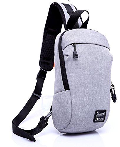 Magictodoor Sling Bag Water Resistant Outdoor Shoulder Chest Crossbody Street/Travel Backpack Multipurpose Daypack Gray - Pink Oakleys Camo