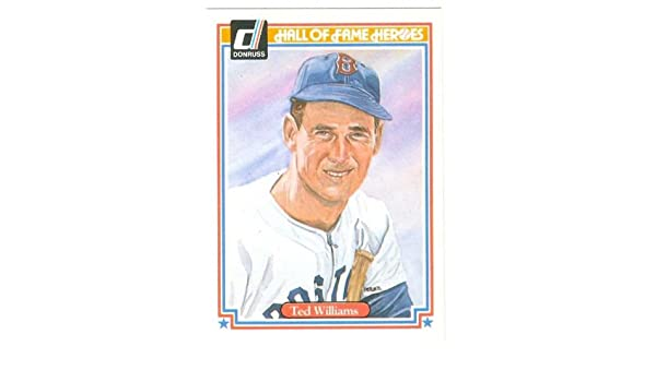 Ted Williams Baseball Card 1983 Donruss Hall Of Fame Heroes
