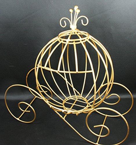 Decorative GOLD Metal Cinderella Pumpkin Carriage Wedding or Party Table Decor (13