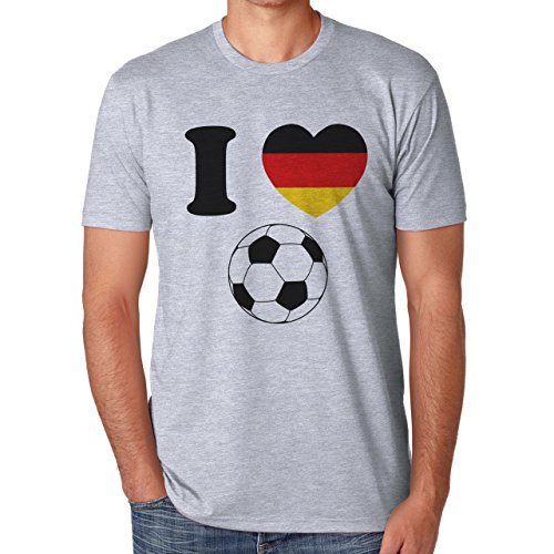 Ich liebe Fußball Deutschland Champions 2016 Herren T-Shirt