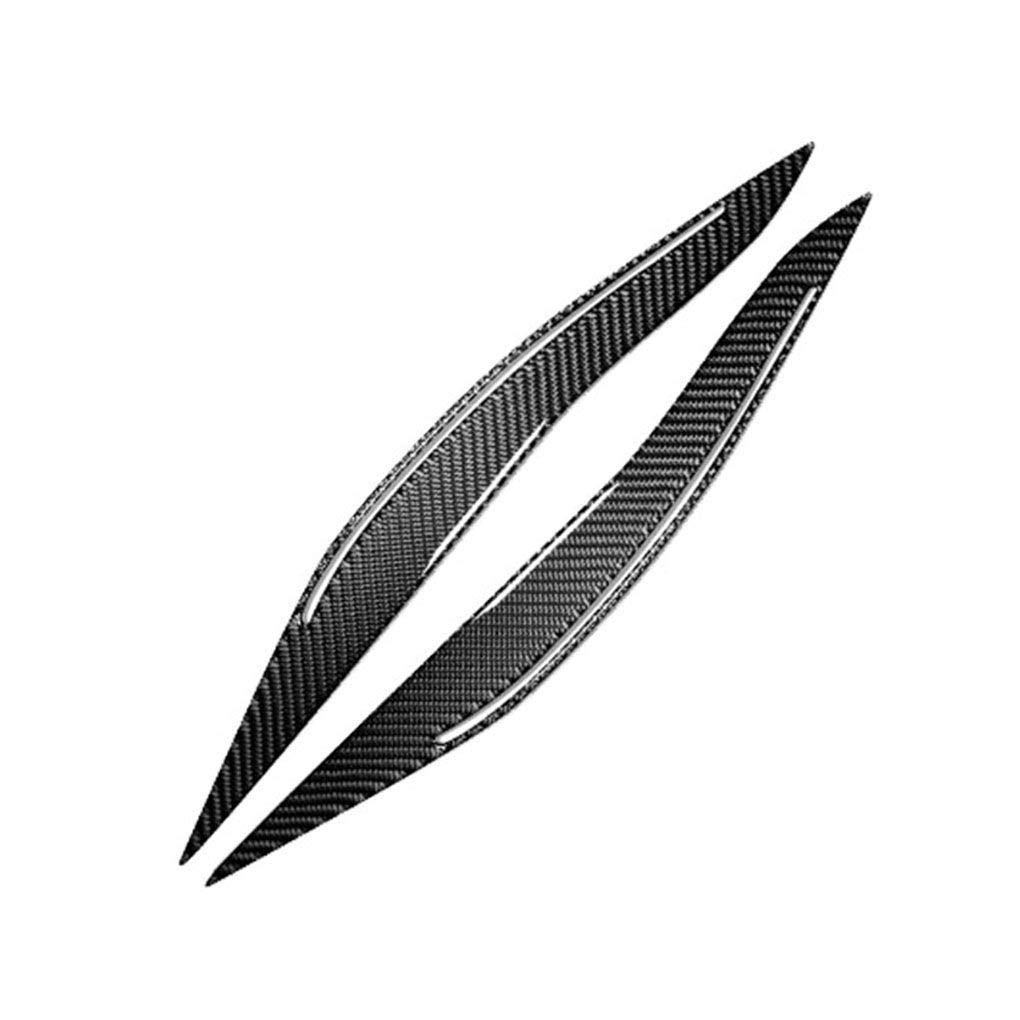 Zerama 1 Pair Carbon Fiber Headlight Eyebrows Eyelids Sticker Replacement for BMW F10 2011-2017 Car Interior Decor