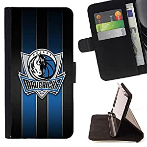 For Sony Xperia Z1 L39 Maverick Basketball Dallas Beautiful Print Wallet Leather Case Cover With Credit Card Slots And Stand Function