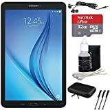Samsung Galaxy Tab E 9.6'' 16GB Tablet PC (Wi-Fi) - Black 32GB microSD Card Bundle includes Tablet, Memory Card, Cleaning Kit, 3 Stylus Pens, Metal Ear Buds and Protective Sleeve