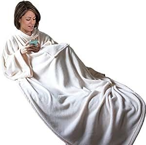 napa super soft wearable warm blanket with sleeves front pocket for women and men. Black Bedroom Furniture Sets. Home Design Ideas