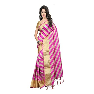 b88abb3cd6518b Amazon.com: jayant creation Self Design Banarasi Banarasi Silk Saree  (Multicolor): Clothing