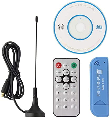 Shinebear Usb 2 0 Digital Dvb T Tuner Sdr Dab Fm Realtek Rtl2832u R820t Hdtv Tv Tuner Receiver Stick Blau Für Pc Laptop Keine Computer Zubehör