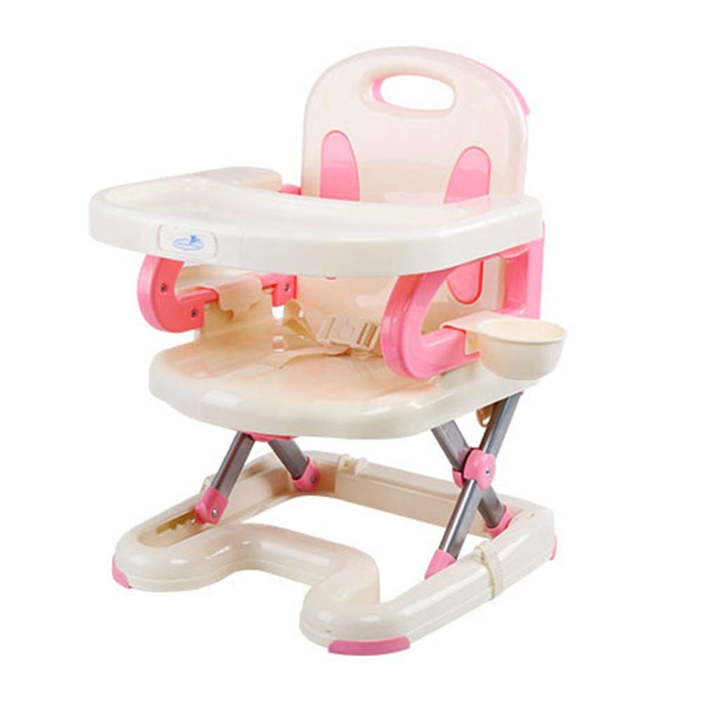 Kids' Desk & Chair Sets Removable Tray Dinning Travel Baby Feeding Chairs Foldable Highchair Infant Chair (Color : Pink, Size : 404155cm) by Liuxina