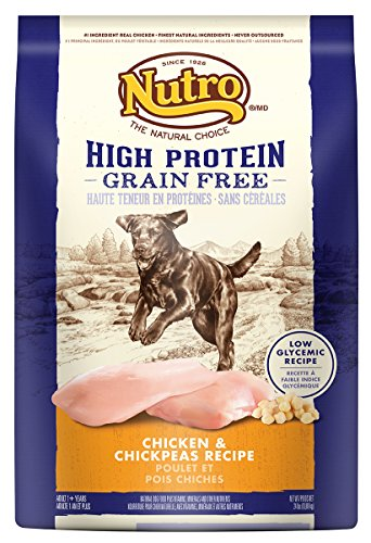 NUTRO Chicken and Chickpeas High Protein Grain Free Dog Food, 24 lbs.