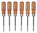 Small Screwdriver Set – 6 Mini Precision Screw Drivers – Durable Chromium Vanadium Steel - 3 Micro Phillips #00, #000, #0000 & Matching 3 Flat 3/32'', 5/64'', 1/16''. - Made In The USA - Free Eagles, LLC