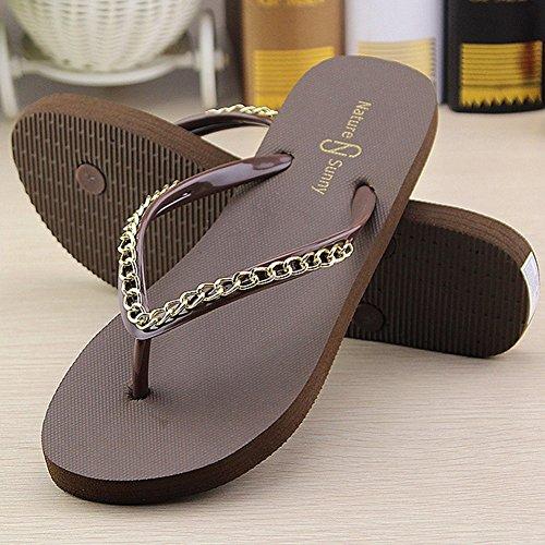 Chancletas de Playa Myhope verano Toe Post Zapatos Sandalias gqw66C