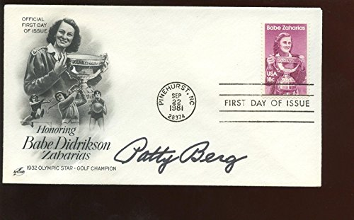 September 22 1981 1st Day Issue Envelope/Cachet Autographed Patty Berg Hologra - Golf Cut Signatures ()