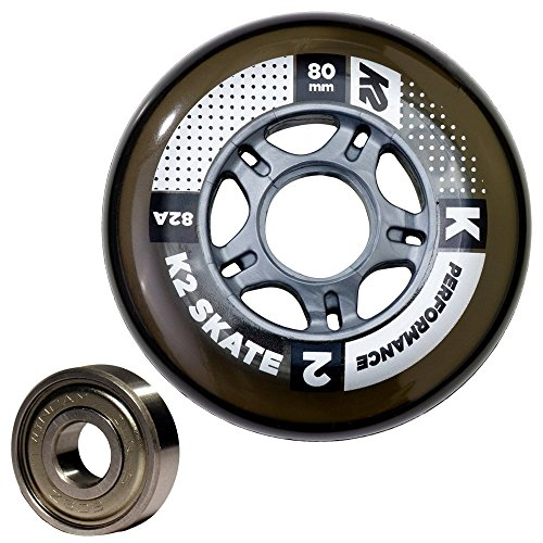 K2 Performance 80mm Inline Skate Wheel & Bearing 8-Pack Kit – DiZiSports Store