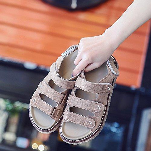 toe spiaggia antislittamento da toe scarpe estivo Nuovo sandali Khaki YMFIE comfort ladies' piatto fondo Xx7SgHqw
